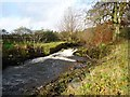 NS6179 : Haughhead, Kirk Burn weir by Robert Murray