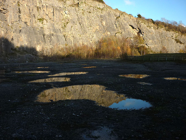 Reflections at Warton Main Quarry