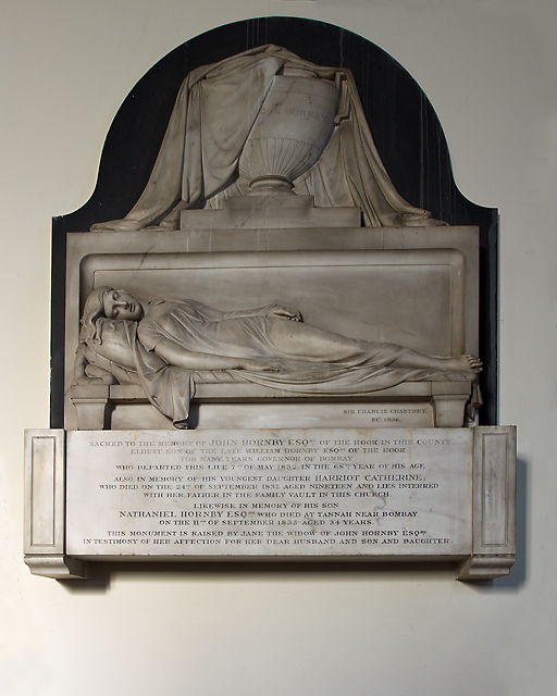 Monument to John Hornby - St Peter's church, Titchfield