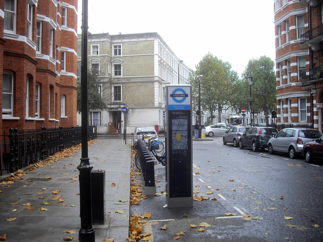 Barclays Cycle Hire Docking Station, Trenovir Road, Earl's Court