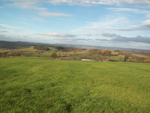 Overlooking Oddo House Farm from Elton Common