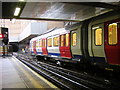 TQ3381 : New Metropolitan Line stock, Liverpool Street station by Christopher Hilton