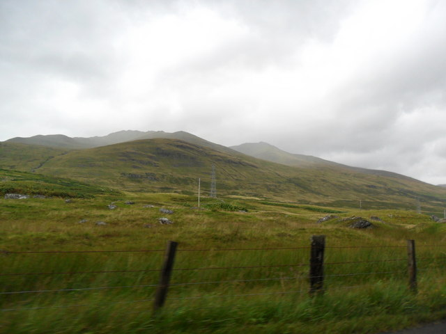 Looking towards Creag Dhubh from the A827