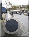 SK3586 : Circular end of 'Cutting Edge', Sheaf Square by Robin Stott