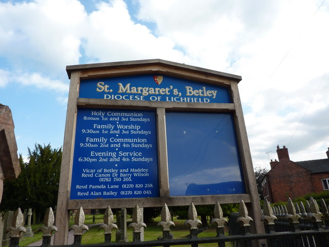 St Margaret's Church, Betley, Sign