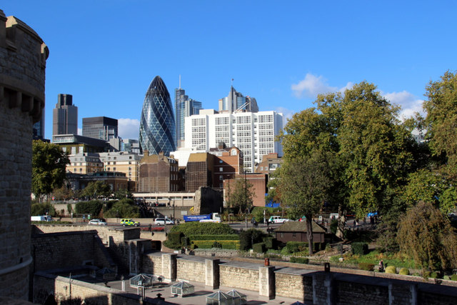City of London Skyline from the Tower of London