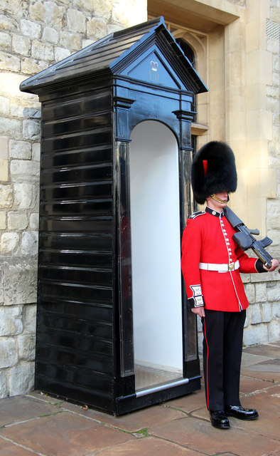 Guard and Sentry Box At Presidential Palace,