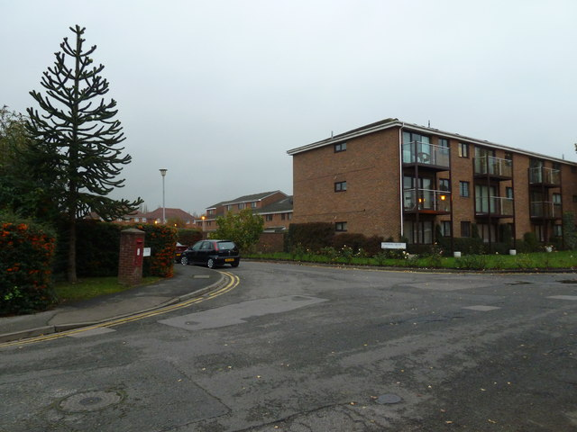 Postbox at the junction of Wolsey Road and Cardinal Close