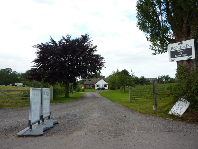 Entrance to Brookside Fishery