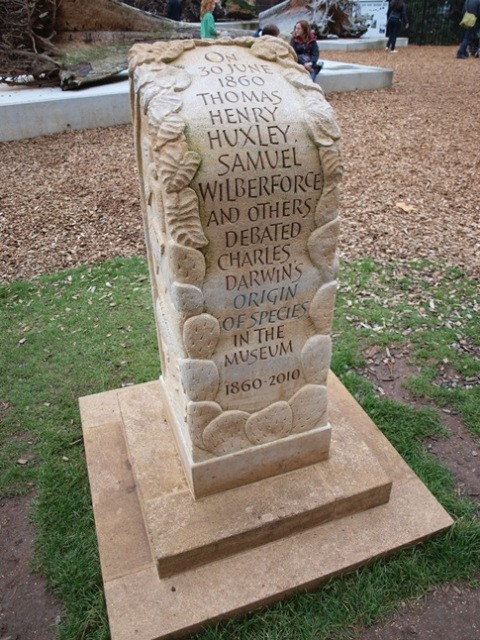 Darwin Debate Memorial at the entrance to the Natural History Museum in Oxford