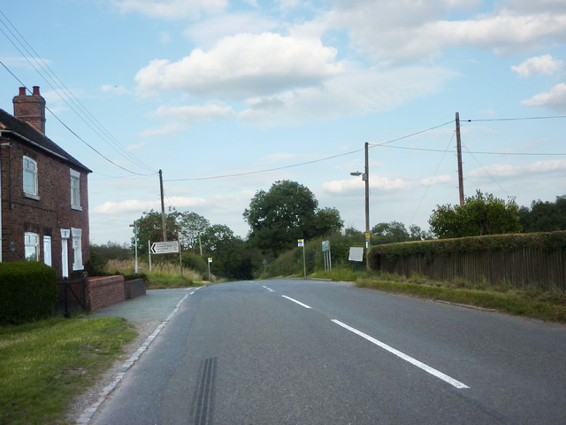 Road junction of Crackley Lane and Leycett Lane