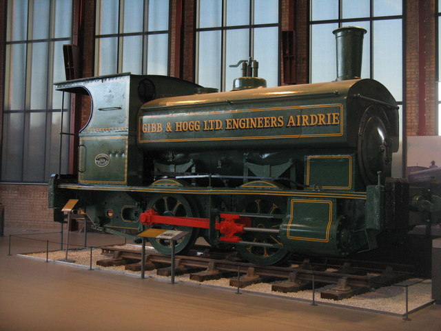 0-4-0 tank engine at Summerlee