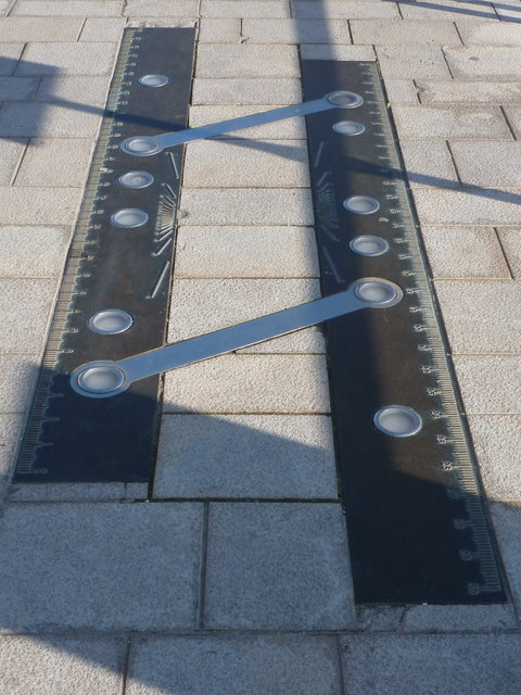 Poole: parallel ruler at the quayside