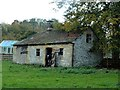 SK2169 : Cow barn beside the River Wye by Graham Hogg
