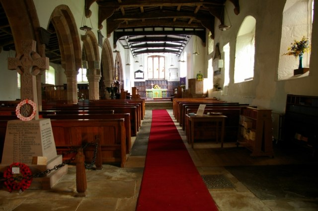 Interior of St Michael's, Brough