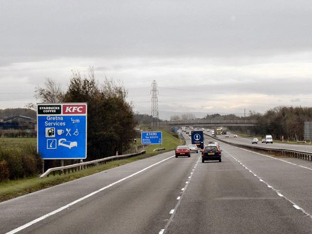 A74(M) Southbound Near Gretna Services