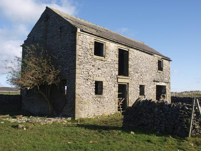 Imposing field barn