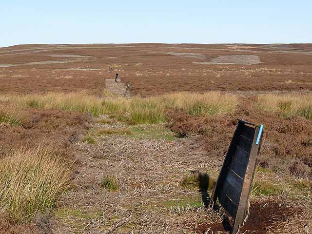 Shooting butts on Birkside Fell