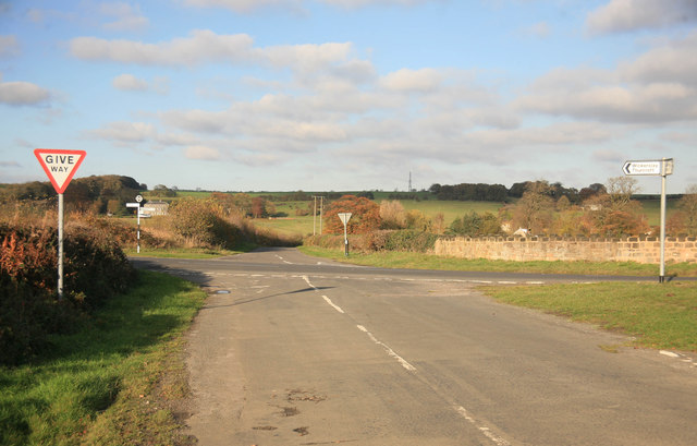 Crossroads in the autumn sun
