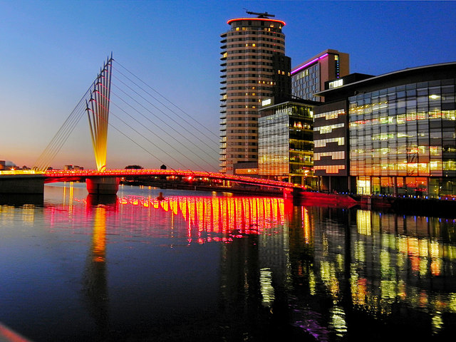 Media City Bridge © David Dixon cc-by-sa/2.0 :: Geograph ...
