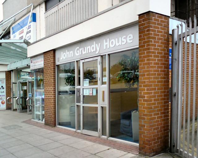 Entrance to John Grundy House