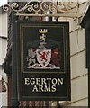 SJ8990 : Sign of the Egerton Arms by Gerald England