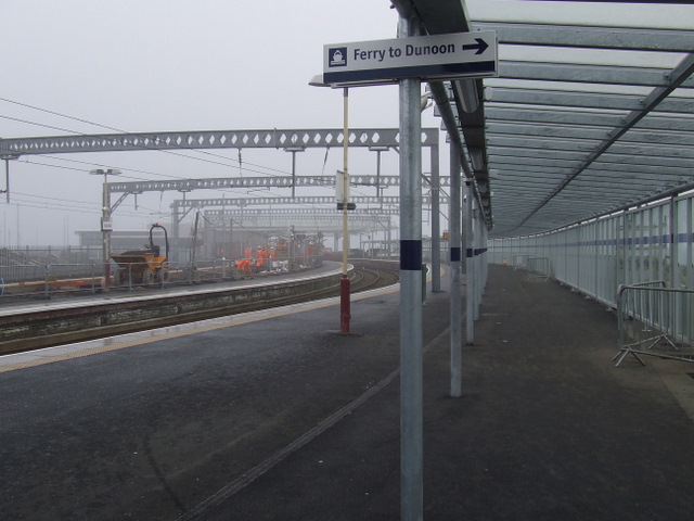Reconstruction at Gourock railway station