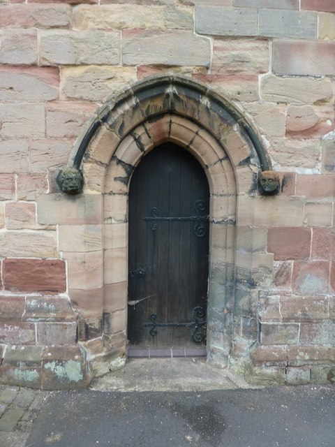 All Saints', The Parish Church of Madeley, Doorway