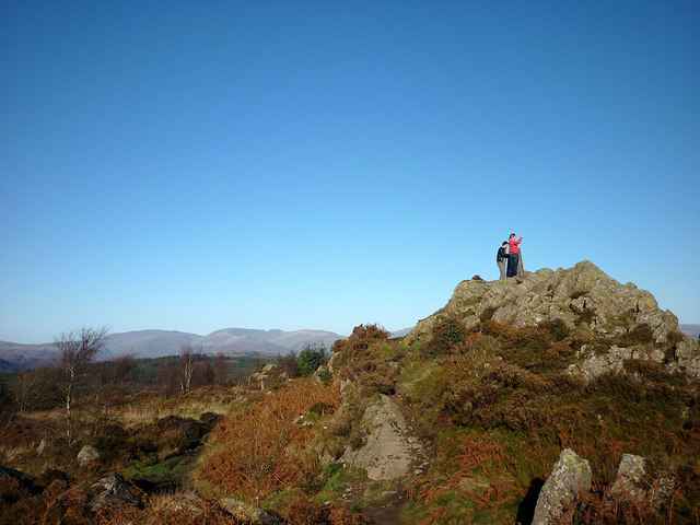 Enjoying the view, Carron Crag