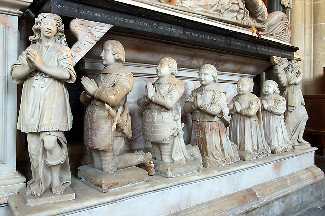 Tomb of Sir Edward Lewys - priory church, Edington (detail 3)