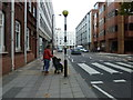 TQ2979 : About to step onto a zebra crossing in Rochester Row by Basher Eyre