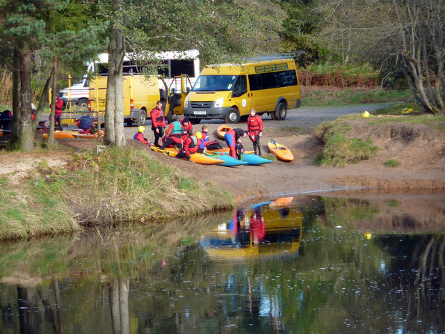 Kayaking on the River Spey at Aviemore