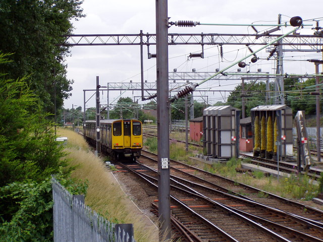 Looking down the line from Chingford Station