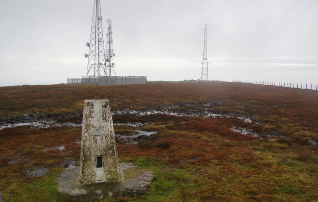 Trig point on Winter Hill