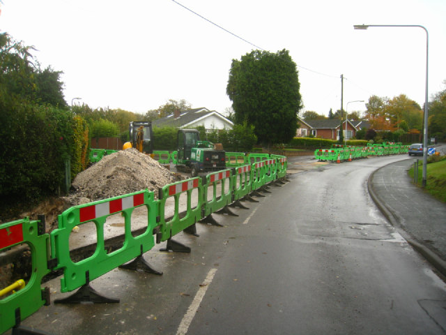 Gas main - Hill Road