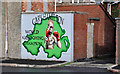 J3272 : Kickboxing mural, Belfast by Albert Bridge
