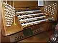 SK7953 : Organ Console, St Mary Magdalene church, Newark by J.Hannan-Briggs