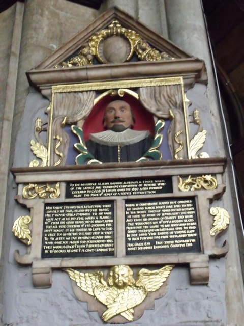 Memorial to John Johnson, St Mary Magdalene church, Newark