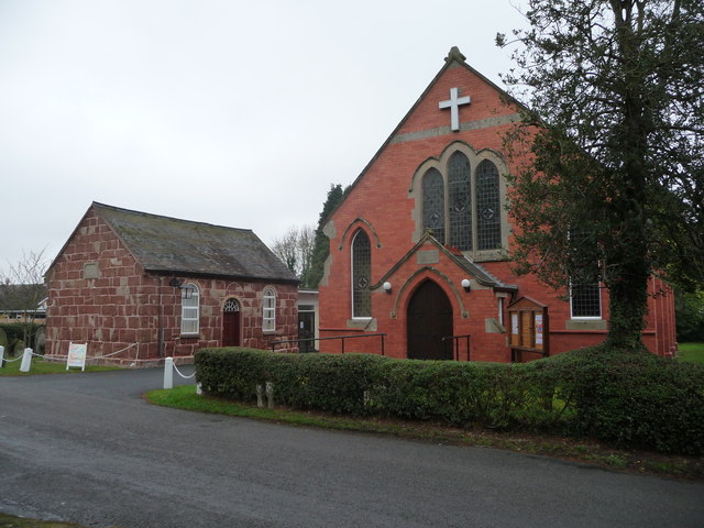 Neighbouring chapels in Bomere Heath village