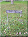 TM3485 : Church Farm sign by Adrian Cable