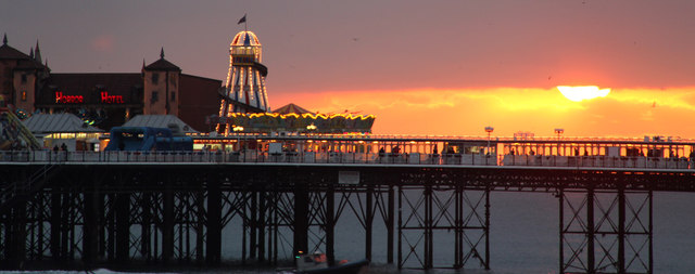 Sunset over Brighton Pier, East Sussex