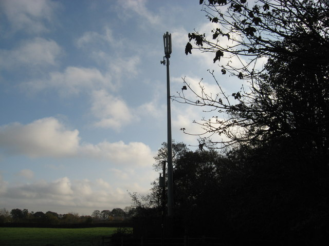 Mobile phone mast adjacent to the A533