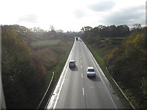 SJ6670 : The A533 looking South by Dr Duncan Pepper