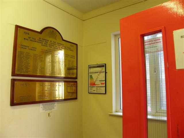 Memorial plaques for the two world wars, Omagh