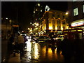 TQ3080 : Charing Cross Road at night by Peter Barr