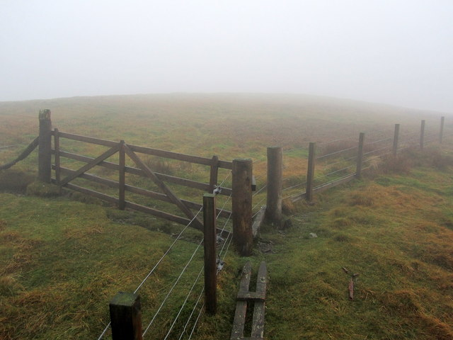 Mist on the summit of Dun Law