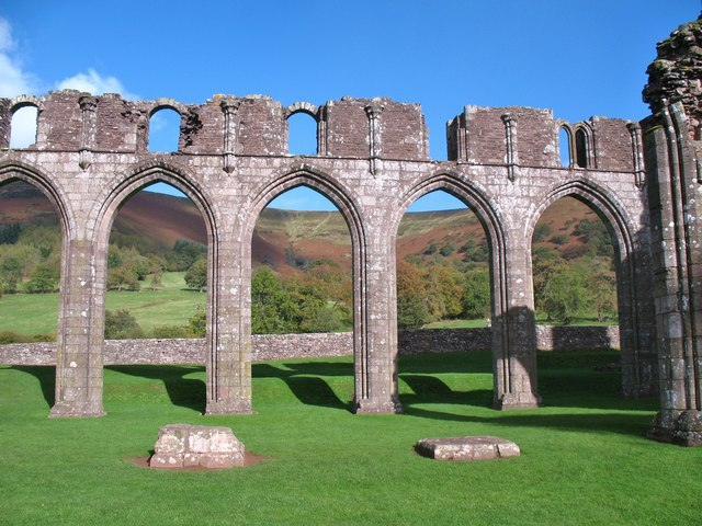 Nave arches, Llanthony Priory