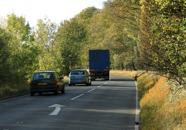 2011 : A36 heading west approaching Codford