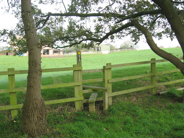 Stile and footpath to Conygreaves Farm
