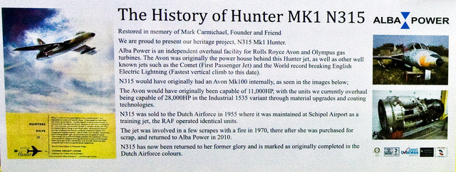 Hawker Hunter information board